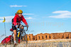 Cyclist at Fort Union National Monument, NM - D4-C1-0289 - 72 ppi