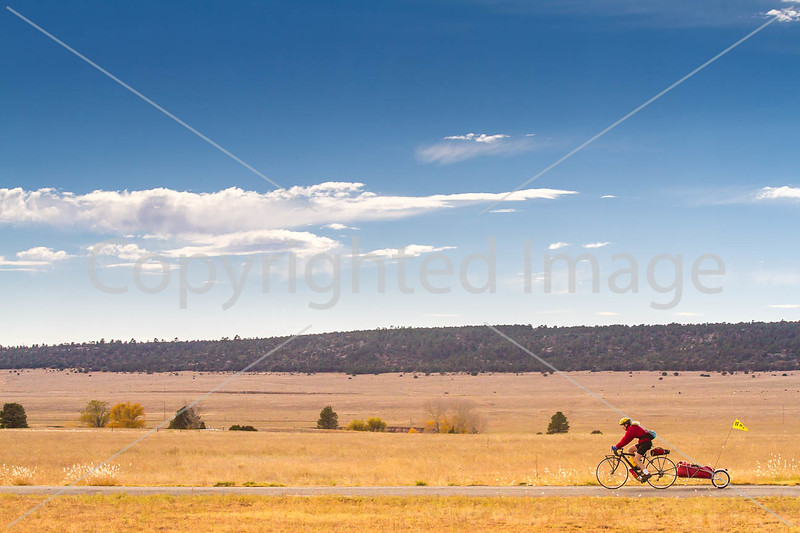 Cyclist at Fort Union National Monument, NM - D4-C1-0237 - 72 ppi