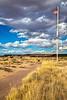 New Mexico - Cyclist at Fort Craig Nat'l Historic Site, south of Socorro - D6-C3-0283 - 72 ppi