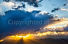 New Mexico - Sunset over mountains between Socorro &  Fort Craig Nat'l Historic Site - D6-C3-0343 - 72 ppi
