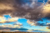 New Mexico - Sunset over mountains between Socorro &  Fort Craig Nat'l Historic Site - D6-C3-0342 - 72 ppi