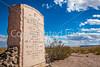 New Mexico - Battle of Valverde monument ear Fort Craig Nat'l Historic Site - D6-C3-0188 - 72 ppi