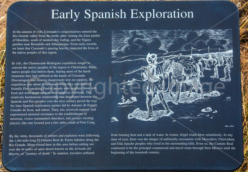 New Mexico - Fort Craig Nat'l Historic Site, south of Socorro - D6-C3-0210 - 72 ppi
