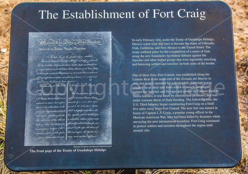 New Mexico - Fort Craig Nat'l Historic Site, south of Socorro - D6-C3-0211 - 72 ppi