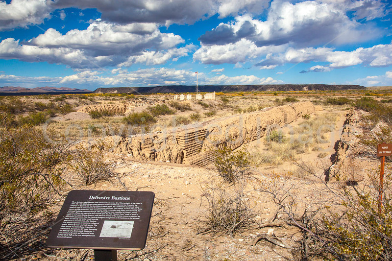 New Mexico - Fort Craig Nat'l Historic Site, south of Socorro - D6-C3-0250 - 72 ppi
