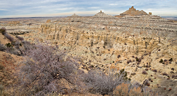 Tertiary outcrops Angel Peak Recreation Area, New Mexico