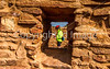 New Mexico - Cyclist at Quarai unit of Salinas Pueblo Missions National Monument - D5-C2 -0207 - 72 ppi-2