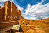 New Mexico - Cyclist at Quarai unit of Salinas Pueblo Missions National Monument - D5-C2 -0260 - 72 ppi