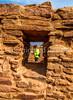 New Mexico - Cyclist at Quarai unit of Salinas Pueblo Missions National Monument - D5-C2 -0207 - 72 ppi-3