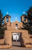 St. Francis of Assis Church in Rancho de Taos, New Mexico, USA.