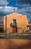 The First Presbyterian Church in Taos, New Mexico, USA.