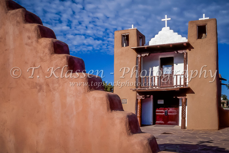 The San Geronimo Chapel at the Taos Pueblo in Taos, New Mexico, USA.