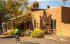 New Mexico - Cyclist in Cerrillos on Turquoise Trail - D5-C3-0065 - 72 ppi