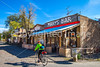 New Mexico - Cyclist in Cerrillos on Turquoise Trail - D5-C2-0037 - 72 ppi