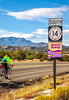 New Mexico - Cyclist on Turquoise Trail 2 miles north of Cerrillos- D5-C3-0032 - 72 ppi