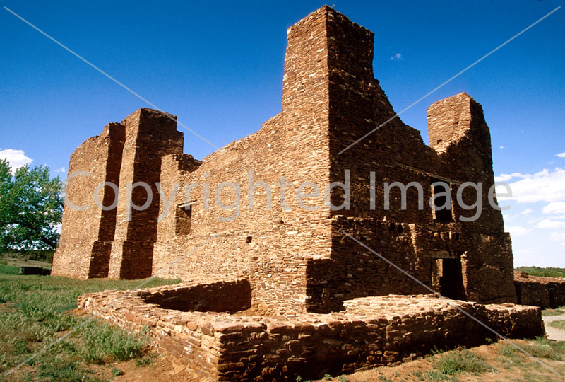 N nm salinas 8 - ORps - Quarai Ruins at Salinas Pueblo Missions Nat'l Monument in New Mexico - 72 dpi