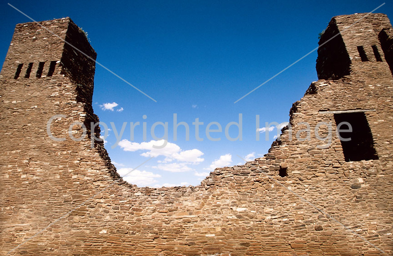 N nm salinas 10 - ORps - Quarai Ruins at Salinas Pueblo Missions Nat'l Monument in New Mexico - 72 dpi