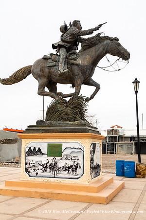Pancho Villa Statue,  Puerto Palomas, Mexico