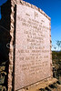 HIST nm sibley 8 - ORps - Historic plaque along Inerstate 25 (exit 124) in New Mexico commemorating Texas deaths at Battle of Val Verde - 72 dpi