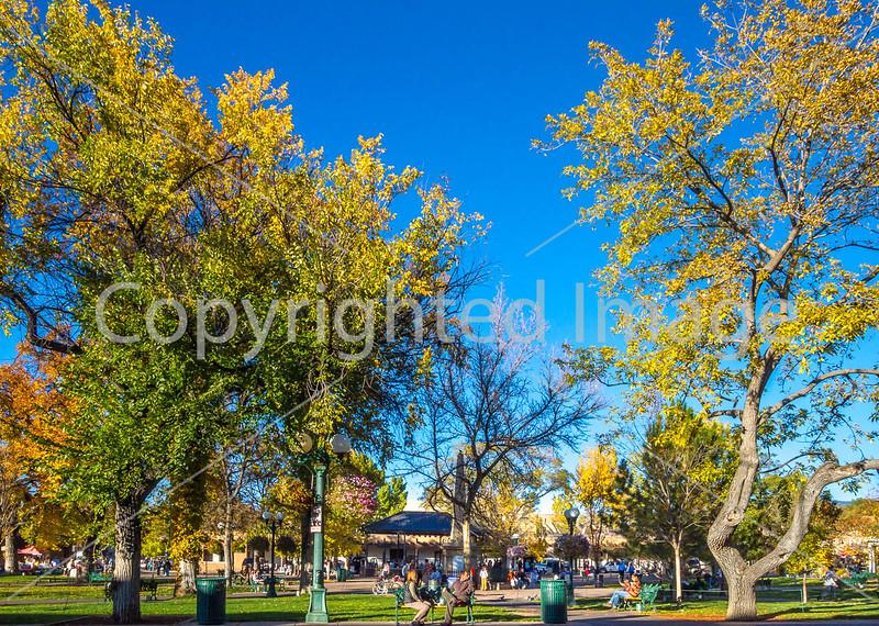 Plaza, downtown Santa Fe, New Mexico - D1-3 - C2-0011 - 72 ppi