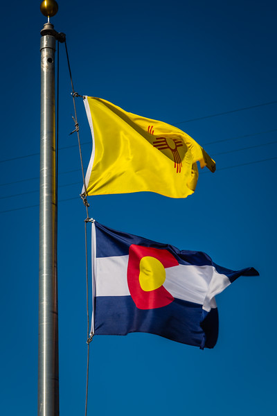 New Mexico and Colorado Flags