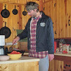 Shemalina the mountain man making breakfast