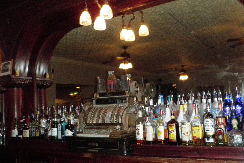 The bar at St. James in Cimarron, NM