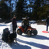 Jeff, Stitch, Galen, Shem and Bronco New Year's Day sledding