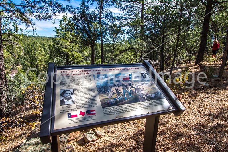 Cyclist on battlefield trail, Glorieta Unit of Pecos Nat'l Historical Park, NM - D4-C2-0397 - 72 ppi