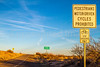 New Mexico - Freeway entrance; bikers use shoulder only - C3-0025 - 72 ppi