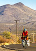New Mexico - Southern Tier rider Randy Salvo on NM 187 north of Hatch - C1-2 - 72 ppi