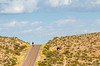 New Mexico -  Cyclist on NM 1, Camino Real, south of Bosque del Apache - D6-C1-0071 - 72 ppi - crop