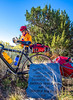 Cyclist at Apache Canyon on Santa Fe Trail in NM - D1-3 - C2-0102 - 72 ppi-2