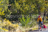 Cyclist at Apache Canyon on Santa Fe Trail in NM - D1-3 - C1-0032 - 72 ppi-2