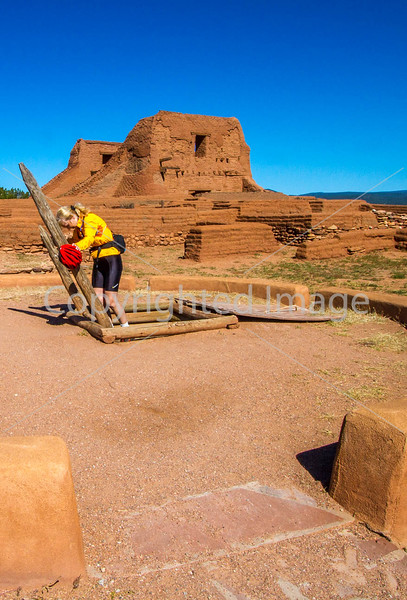 Cyclist at Pecos National Historical Park, NM - D1-3 - C2-0217 - 72 ppi-2