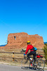 Cyclist at Pecos National Historical Park, NM - D4-C1-0179 - 72 ppi