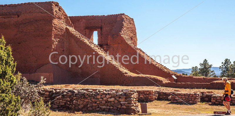 Cyclist at Pecos National Historical Park, NM - D1-3 - C3-0184 - 72 ppi-2
