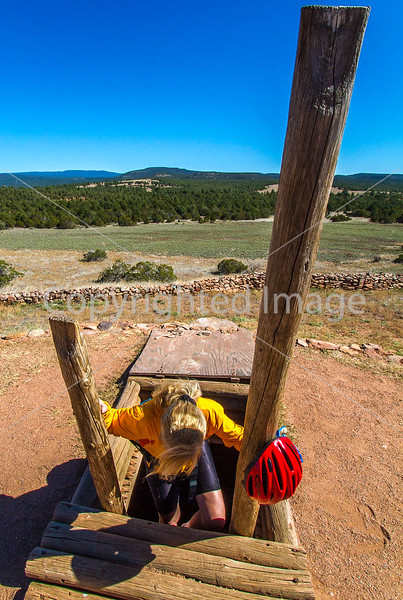 Cyclist at Pecos National Historical Park, NM - D1-3 - C2 --0132 - 72 ppi