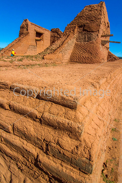 Cyclist at Pecos National Historical Park, NM - D1-3 - C2 --0178 - 72 ppi