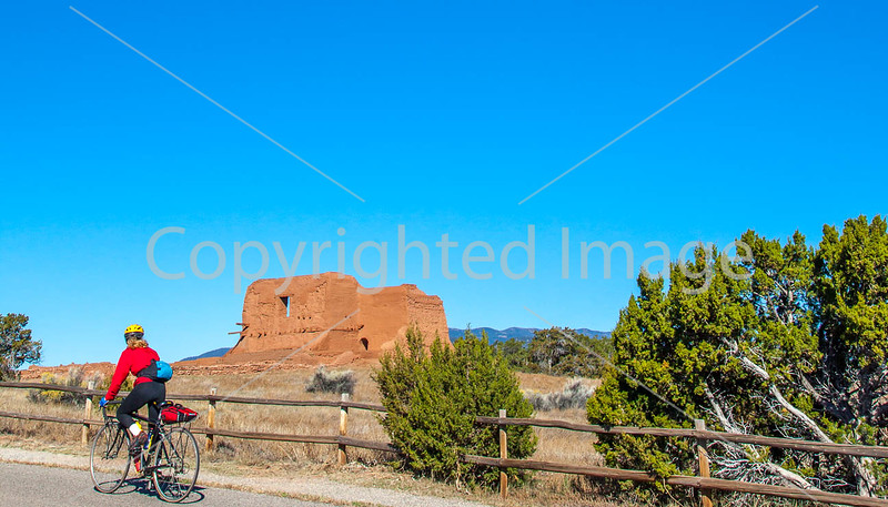 Cyclist at Pecos National Historical Park, NM - D4-C3-0269 - 72 ppi-2