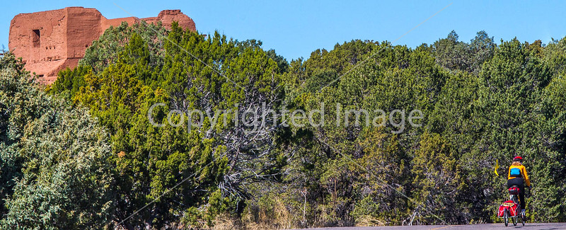 Cyclist at Pecos National Historical Park, NM - D1-3 - C-2 - 72 ppi-2