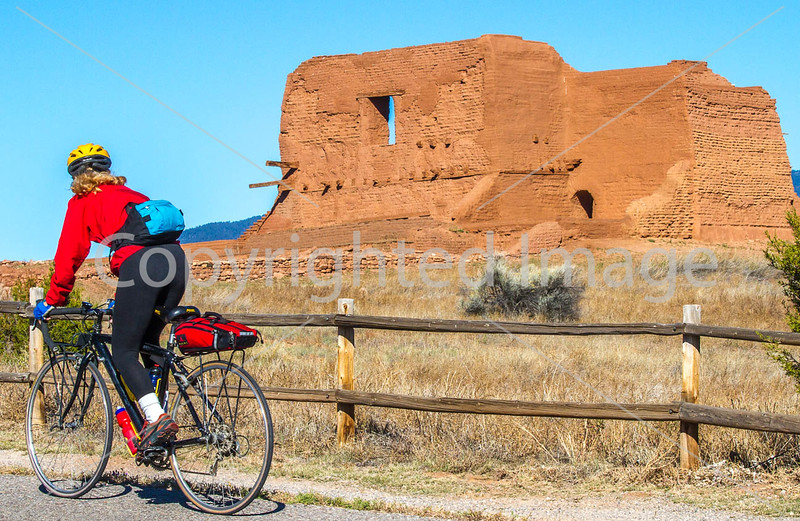 Cyclist at Pecos National Historical Park, NM - D4-C1-0171 - 72 ppi-2