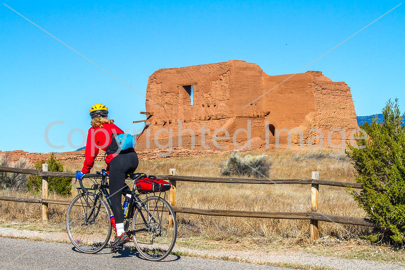Cyclist at Pecos National Historical Park, NM - D4-C1-0170 - 72 ppi