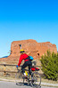 Cyclist at Pecos National Historical Park, NM - D4-C1-0174 - 72 ppi-2