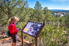 Cyclist on battlefield trail, Glorieta Unit of Pecos Nat'l Historical Park, NM - D4-C2-0386 - 72 ppi