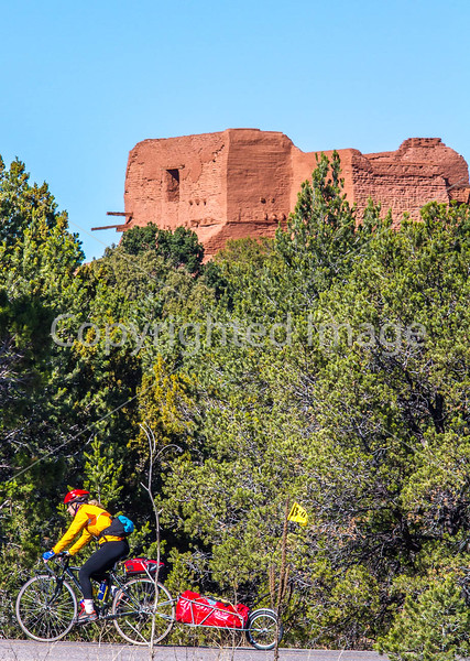 Cyclist at Pecos National Historical Park, NM - D1-3 - C-0068 - 72 ppi