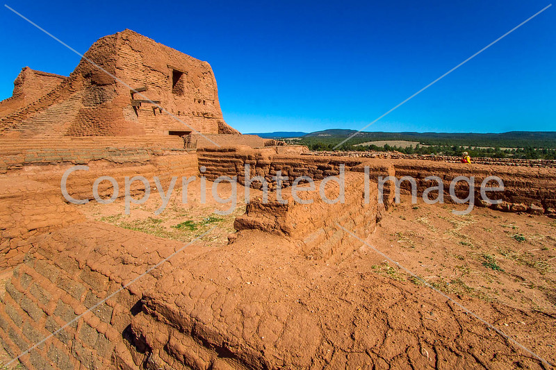 Cyclist at Pecos National Historical Park, NM - D1-3 - C2-0192 - 72 ppi