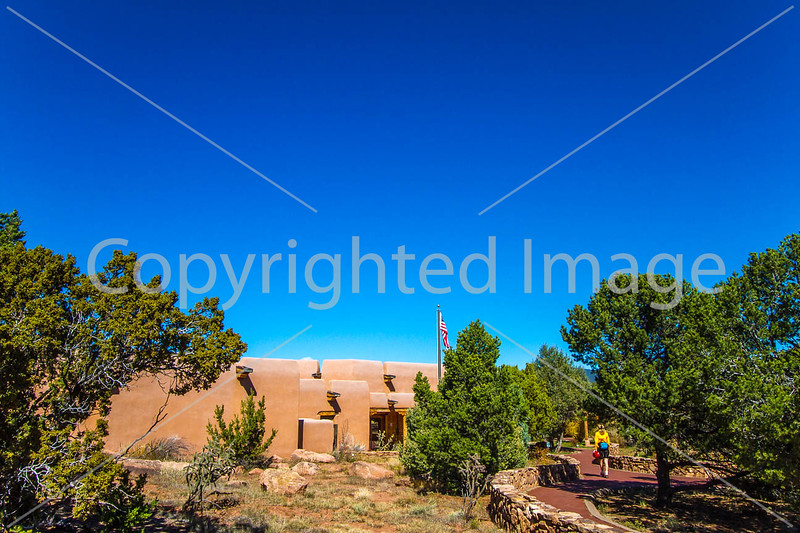 Cyclist at Pecos National Historical Park, NM - D1-3 - C2-0281 - 72 ppi