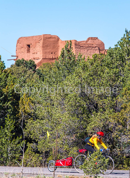 Cyclist at Pecos National Historical Park, NM - D1-3 - C-0074 - 72 ppi