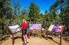 Cyclist on battlefield trail, Glorieta Unit of Pecos Nat'l Historical Park, NM - D4-C2-0425 - 72 ppi